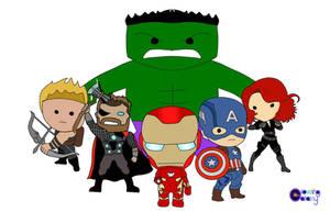 Chibi Marvel - Original Avengers by glowinggalaxy