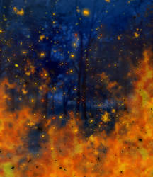Simple background - forest on fire