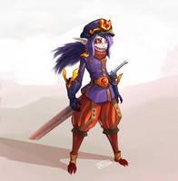 Swordsman Warlock Vaati by Daltair
