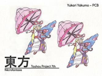 Touhou Perfect Cherry Blossom 7th - Yukari Yakumo by MrAlinoe