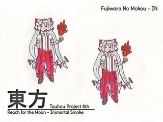 Touhou IN 8th - Fujiwara no Mokou by MrAlinoe