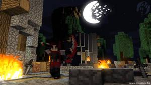 Minecraft - Crescent Rose (RWBY) - Render