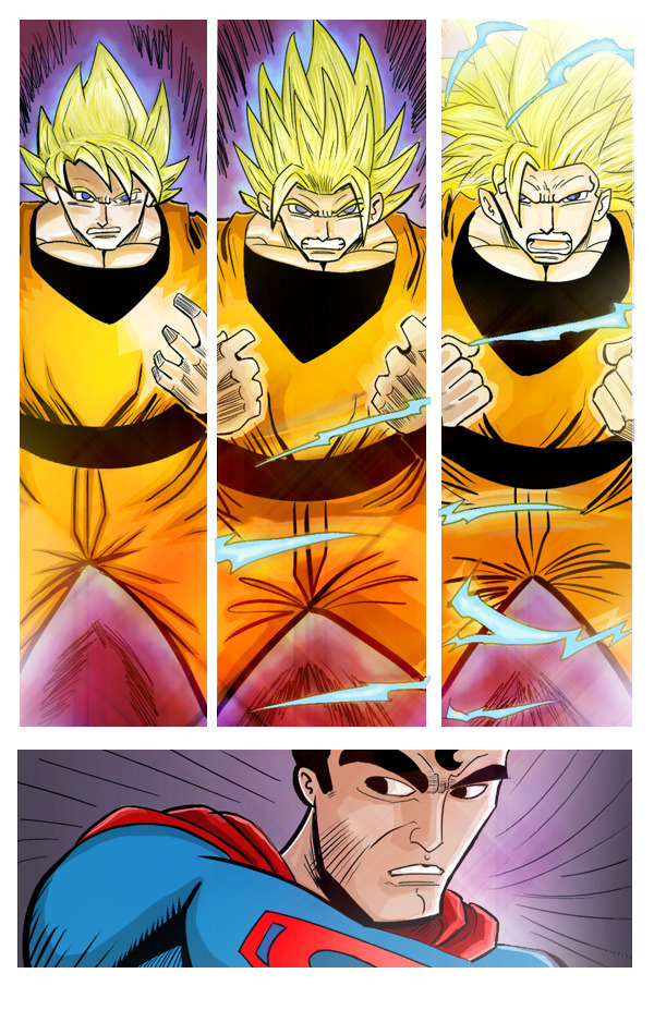 FUSION JAM: Superman vs Goku by NickGuy0320 on DeviantArt