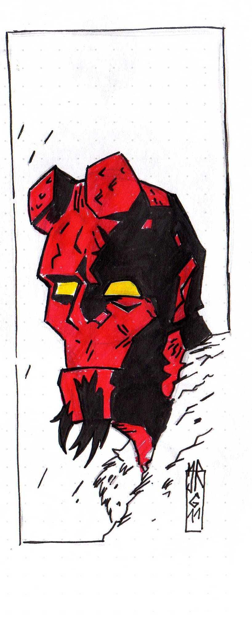 I'ts Hellboy again by jacksony22