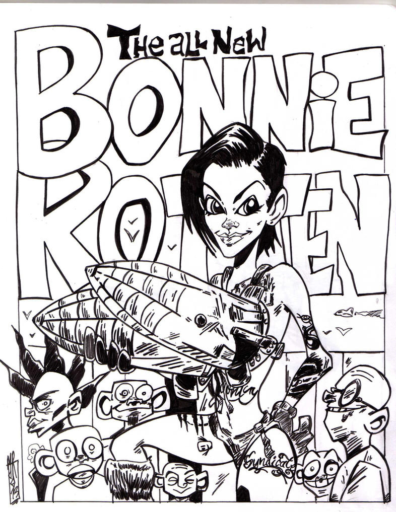 Bonnie Rotten and her big weapons by jacksony22