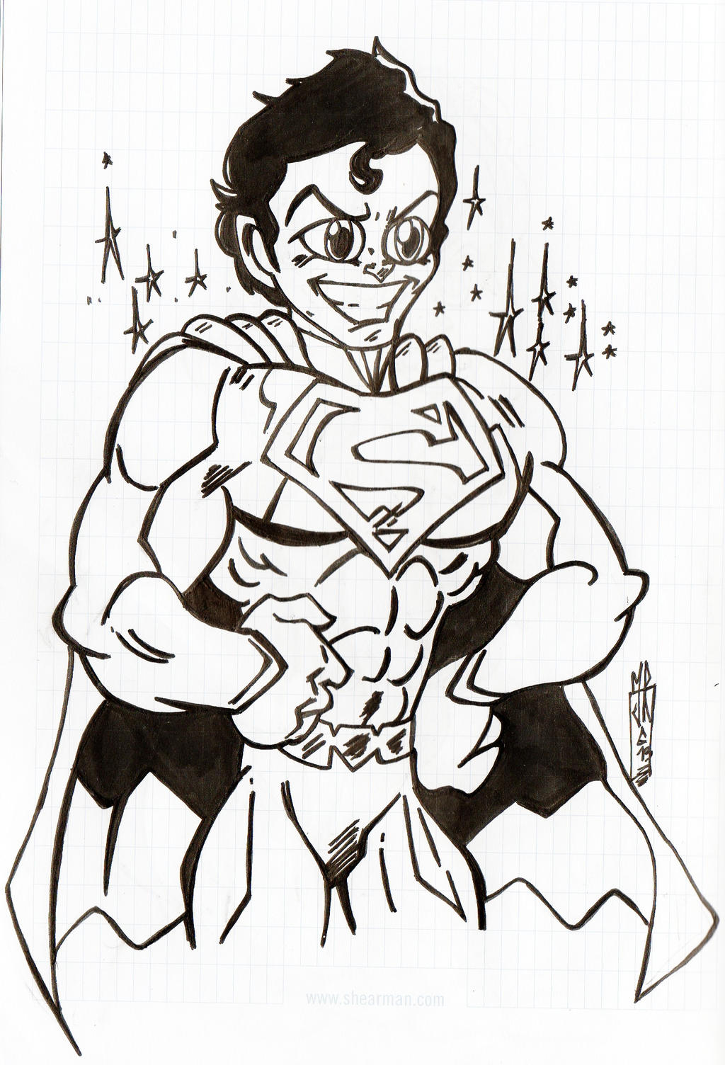Cartoon Superman by jacksony22