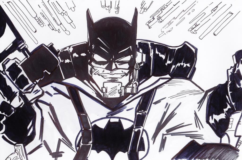 Dark Knight in Action by jacksony22