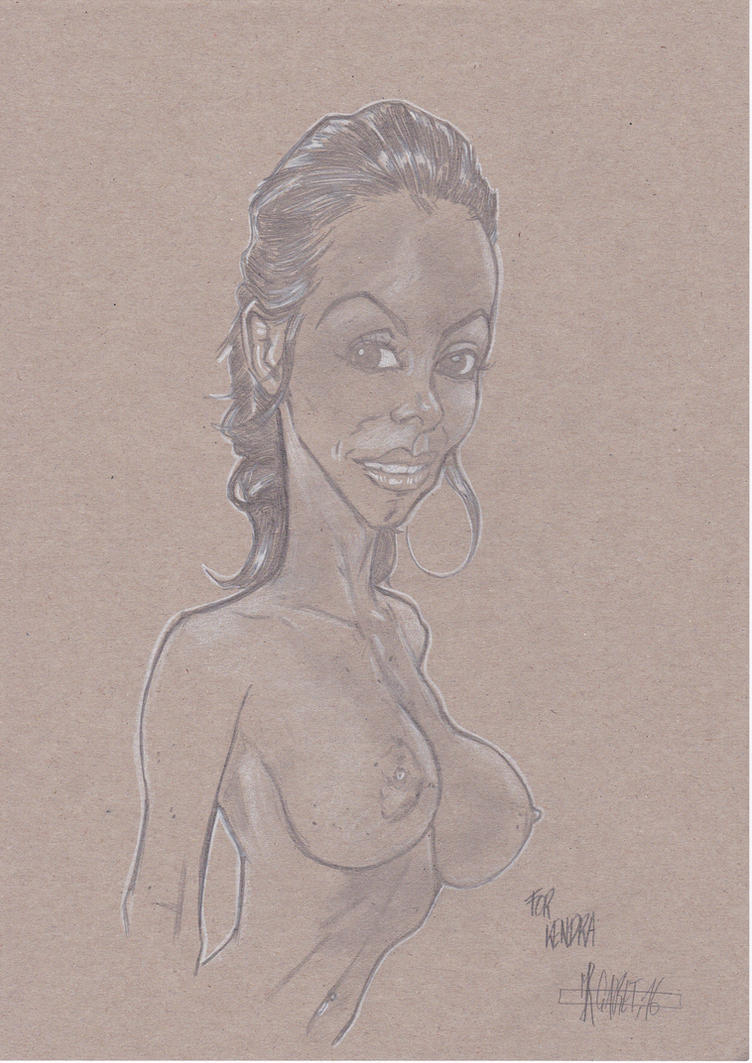 Kendra Lust Nude sketch by jacksony22