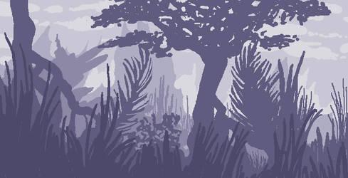 pixel landscape by Crowflux