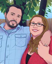Couple Portrait Commission by Crowflux