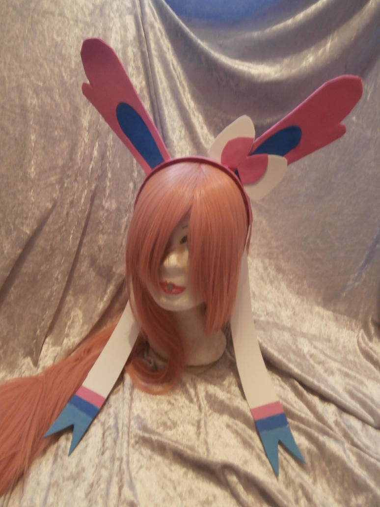 sylveon cosplay ears by Evil-Alice8