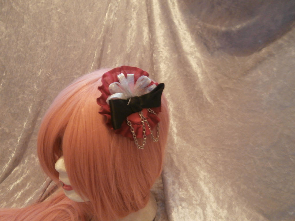 gothic lolita hair clip by Evil-Alice8