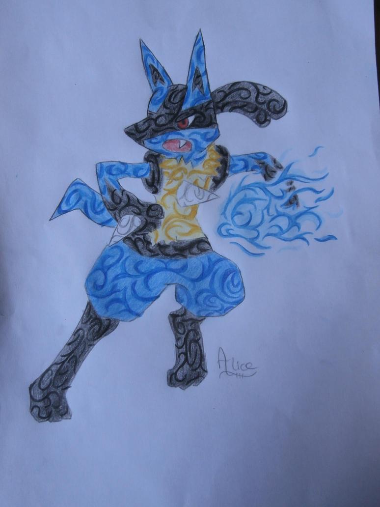 Tribal lucario by Evil-Alice8