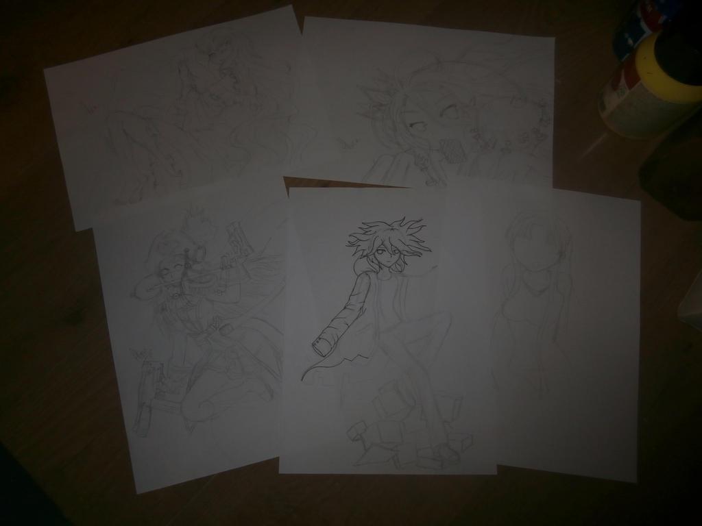 WIP drawings :) by Evil-Alice8
