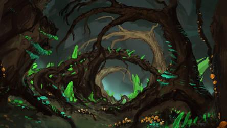 Warpstone infested forest
