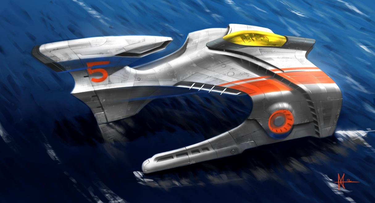hi tech catamaran by mikemars