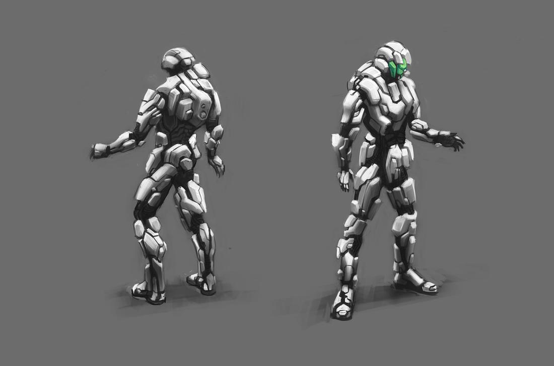 organic techno armor by mikemars