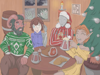 Festive Sweaters Squad! [OCs] by MbTheGray