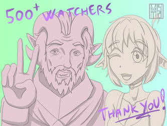 Thank You! 500+ Watchers by MbTheGray
