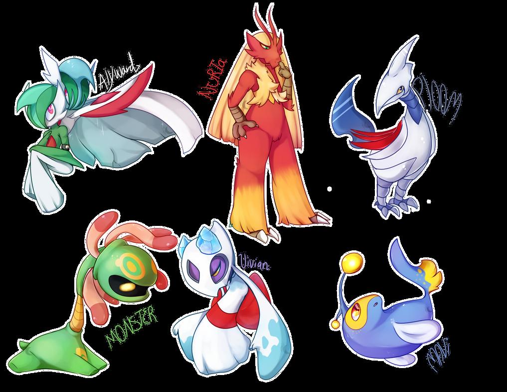 Omega Ruby Team lineup! by PixelMonozu