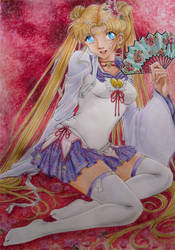 Sailor Moon with Kimono by NiSaki