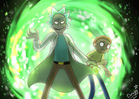 Rick and Morty by angyluffy