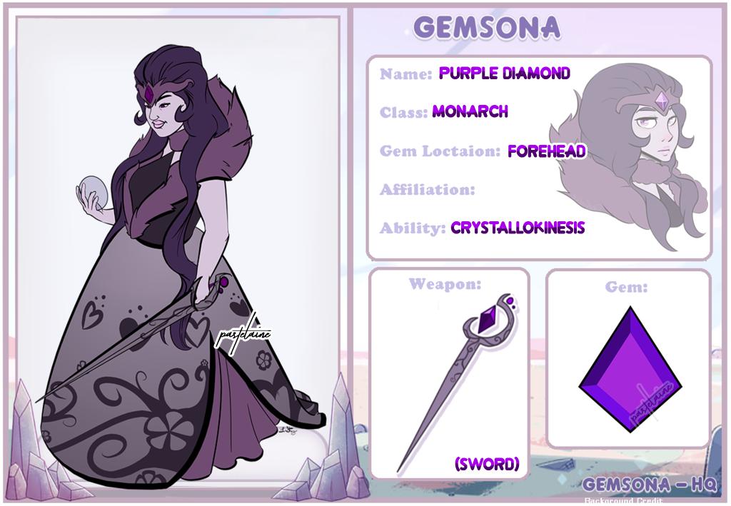 (OC) Purple Diamond by pastelaine-art