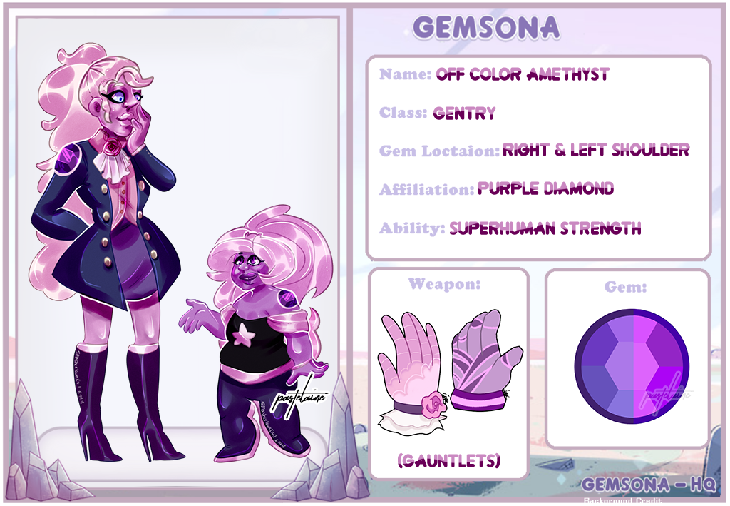 (OC) Off Color Amethyst by pastelaine-art