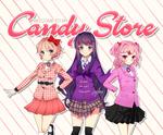 Candy Store (Doki Doki Literature Club X Heathers) by pastelaine-art