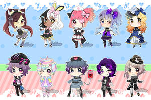 Harajuku Fashion SuperSale Adoptables (3/10 OPEN) by pastelaine-art
