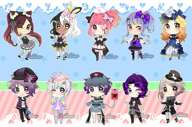 Harajuku Fashion SuperSale Adoptables (2/10 OPEN) by pastelaine-art