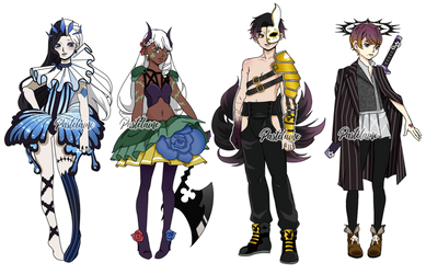 Four of a kind Humanoid Auction (4/4 OPEN) by pastelaine-art