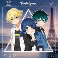 Adrien, Marionette and Luka (Miraculous Ladybug) by pastelaine-art