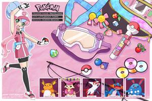 OC Pokemon Trainer Card (Character Sheet) by pastelaine-art