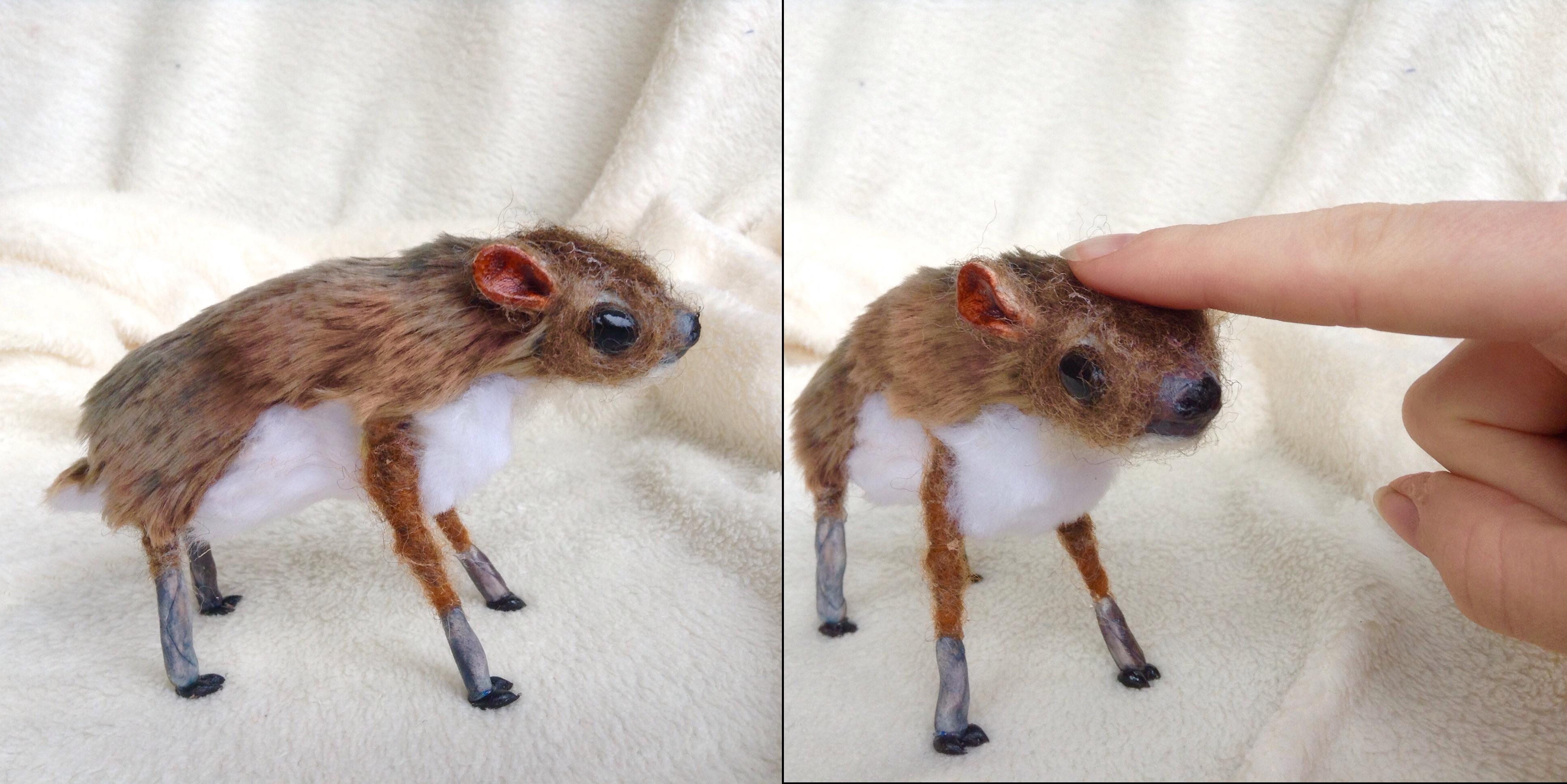 baby java mouse deer ooak art doll by honeycricket on