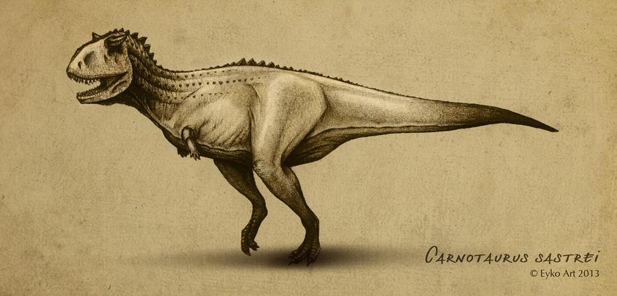 carnotaurus sastrei by eykoart on deviantart