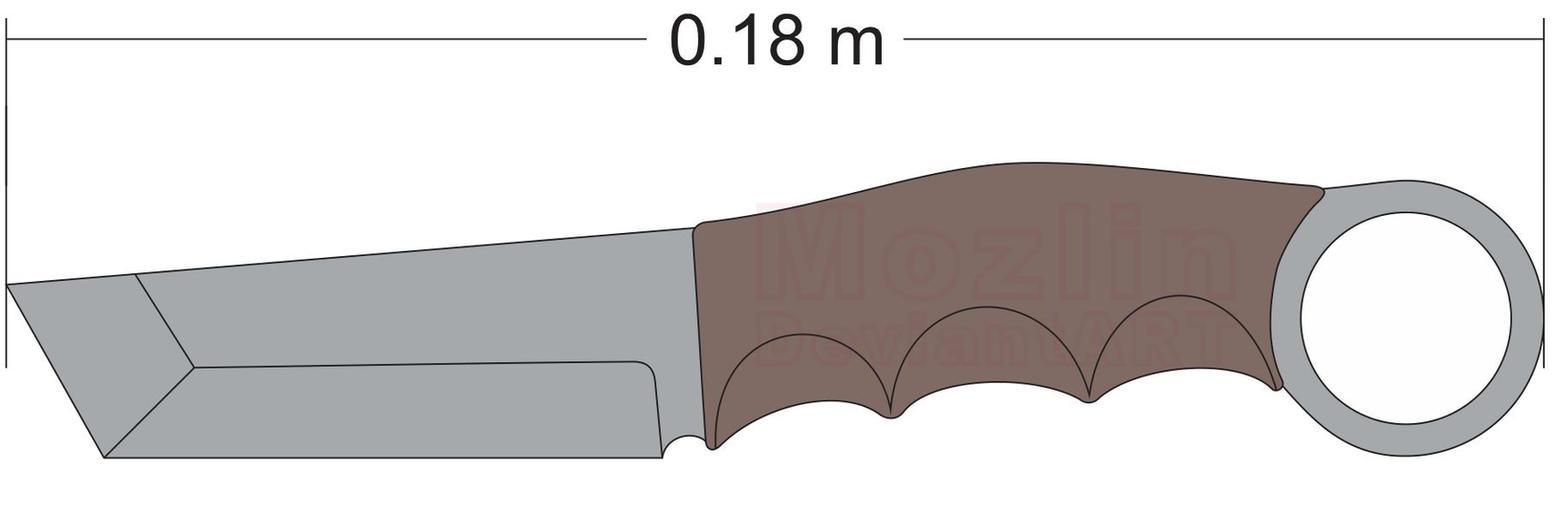 Karambit Tanto blade Design by Mozlin