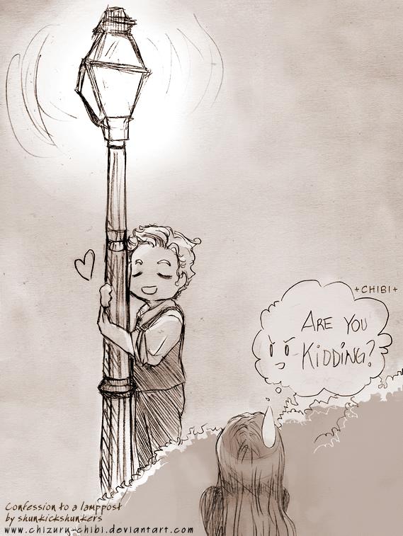 Lamppost love by Chizuru-chibi
