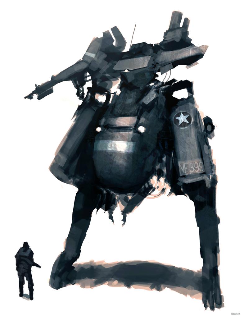 A-91 Gray Wolf by funkychinaman