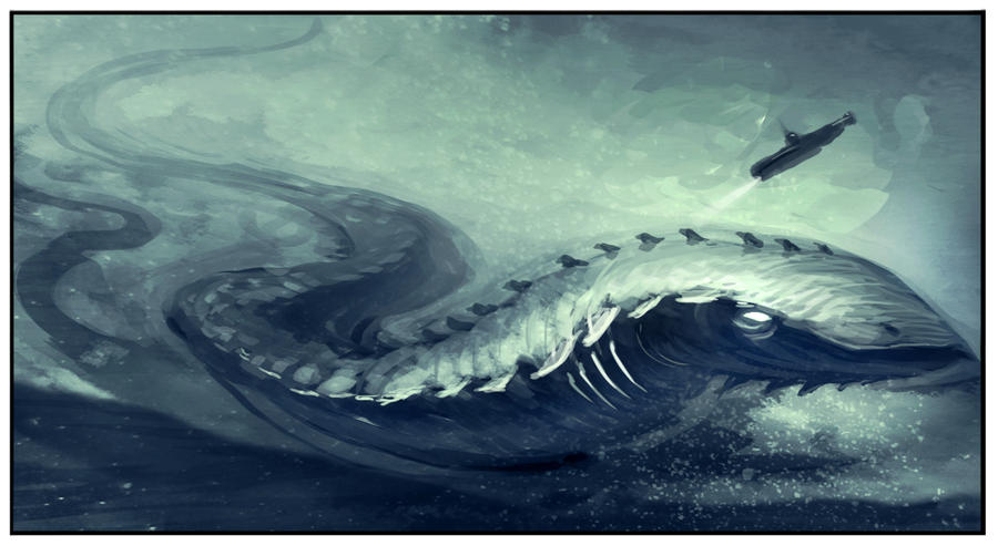 Sea Serpent by funkychinaman