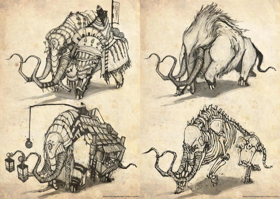 Ancient Behemoth by funkychinaman