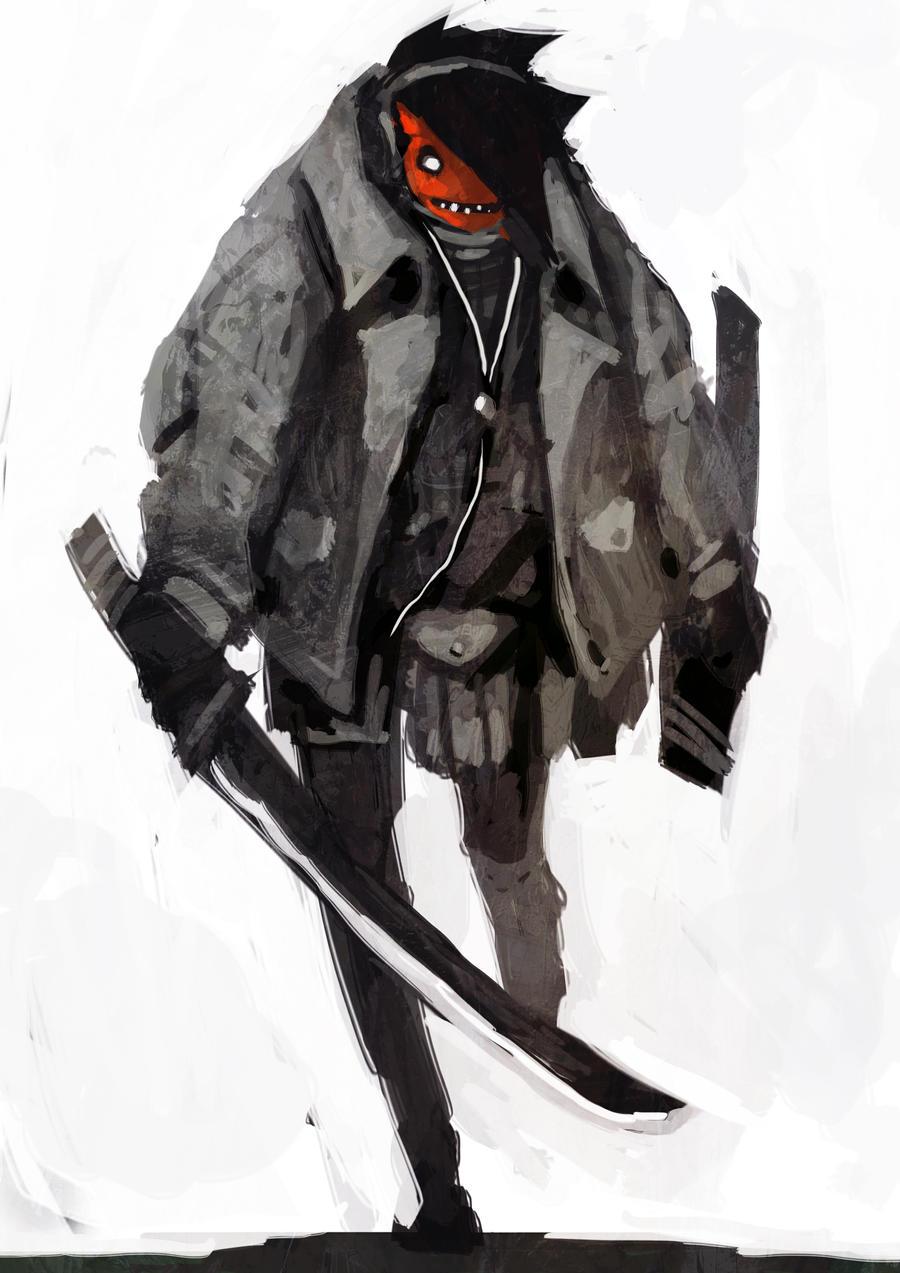 Oni Swordsman by funkychinaman