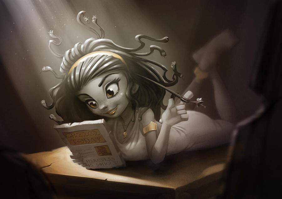 Medusa Teen by AmandaDuarte