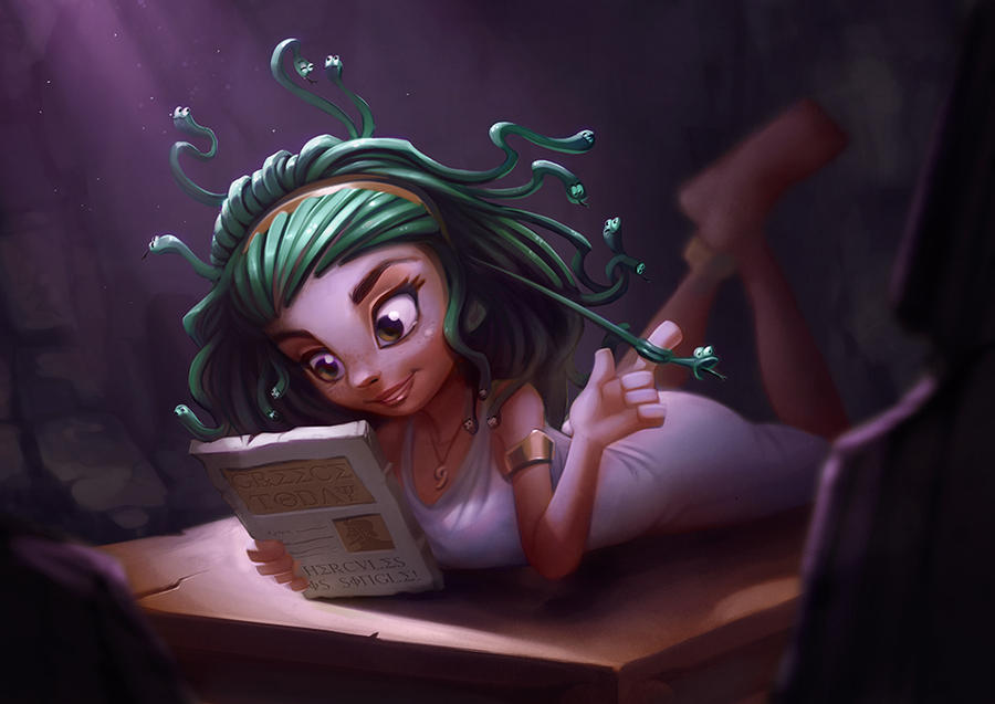 Medusa Teen - Colors by AmandaDuarte
