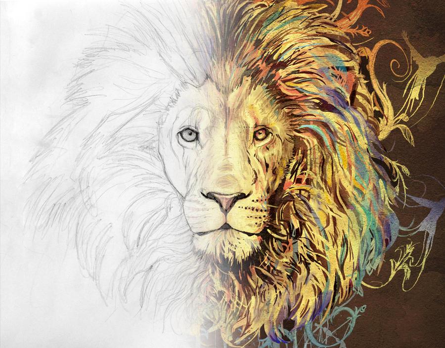 Lion - Process by AmandaDuarte