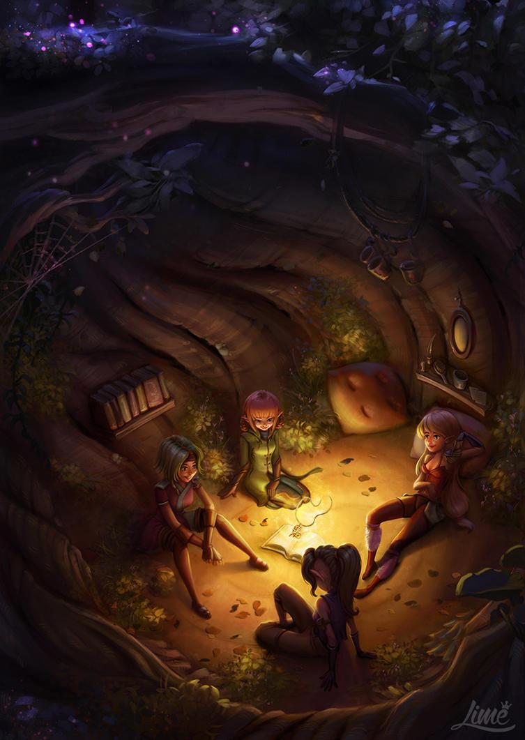 Sisterhood of the Warrior Fairies - The Ritual by AmandaDuarte