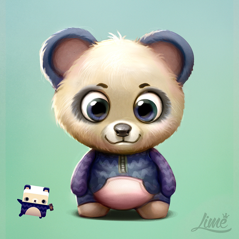 Panda Bear - Alphabear by AmandaDuarte