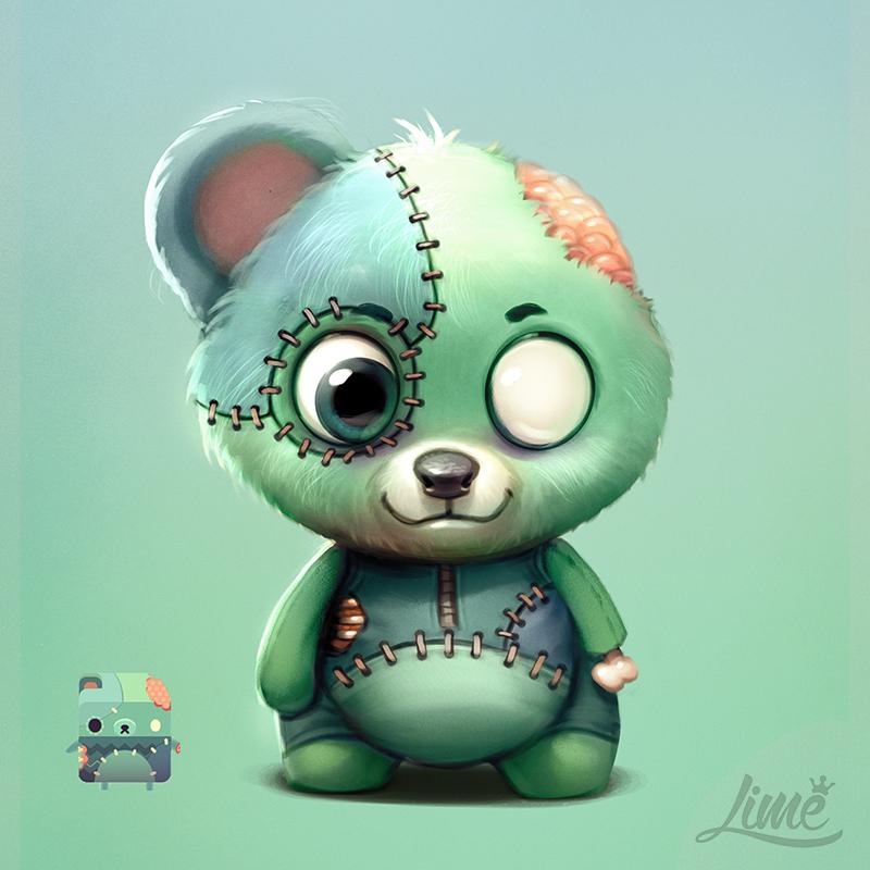 Zombie Bear - Alphabear by AmandaDuarte