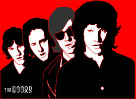 the doors pop art by toddsiddle-manas
