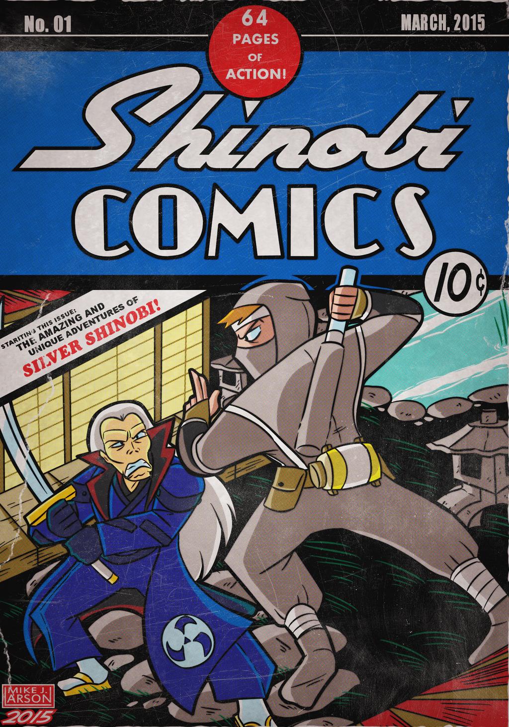 SilverKazeNinja Cover Commission: Silver Shinobi by MichaelJLarson